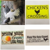 Chicken, Rooster & Egg Signs