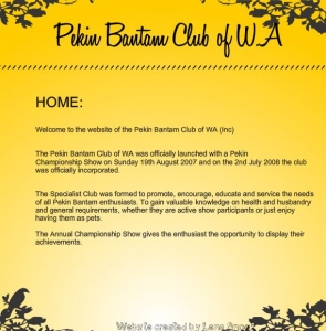 The Pekin Bantam Club of Western Australia